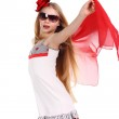 Lady in red — Stock Photo #5839078