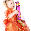 Child with the gift — Stock Photo #5839084
