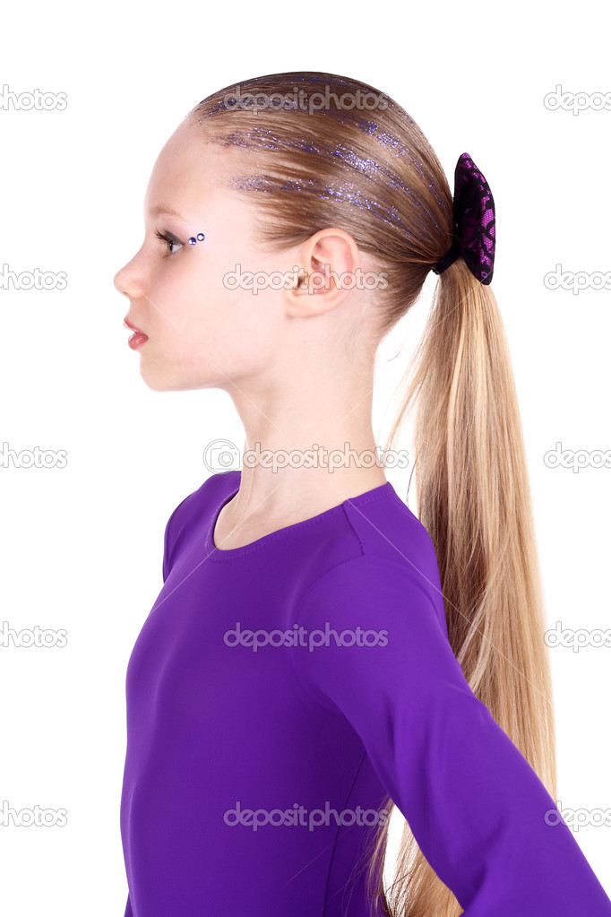 Closeup image of a pretty blond teenage girl — Stock Photo #5839281