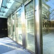Stock Photo: Transparent door and sunlight