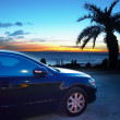 Car and sunset — Stock Photo #5797830
