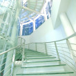 Transparent staircase — Stock Photo