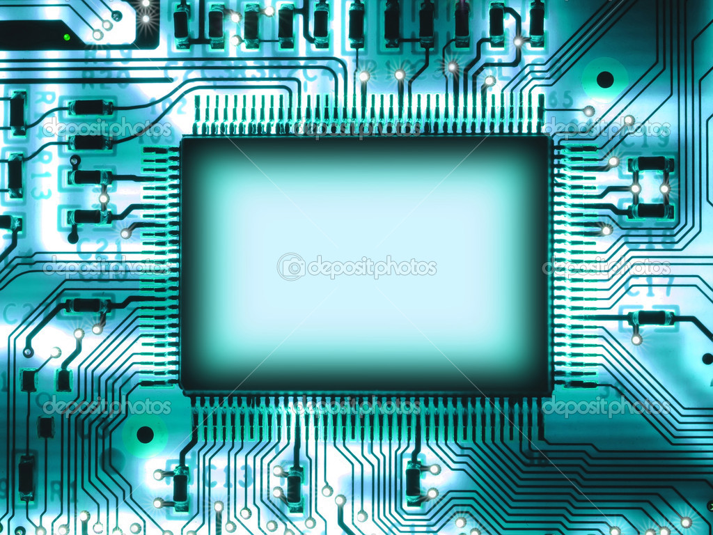 Blank chip on circuit board — Stock Photo #5797801