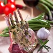 Closeup of raw lamb chops — Stock Photo #5419829