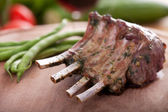 Closeup of grilled lamb chops — Stock Photo