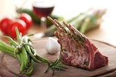 Closeup of raw lamb chops — Stock Photo