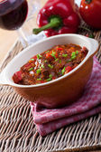 Hungarian goulash in a bowl — Stock Photo