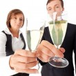 Royalty-Free Stock Photo: Business couple with champage