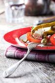 Closeup of a greek salad — Stock Photo