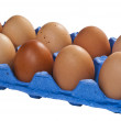 Royalty-Free Stock Photo: A dozen chicken eggs.
