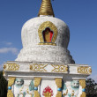 Stock Photo: White pagoda