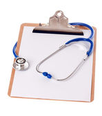 Clipboard and Stethoscope — Stock Photo