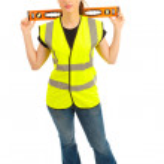 Woman Construction — Stock Photo