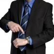 Businessman is pointing at his watch — Stock Photo #6350274