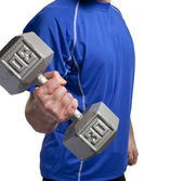 Man lifting dumbbell — Stock Photo