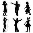 Kids singing dancing — Stock Vector #5603748