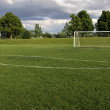 Unoccupied Soccer Goal — Stock Photo #5677378