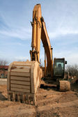 Wide Angle Backhoe — Stock Photo