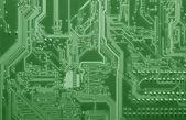 Placa de circuito verde — Fotografia Stock
