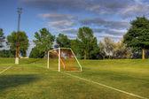 Soccer Net Side-view — Stock Photo