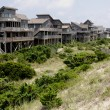 Row of Outer Banks Beach Houses — Stock Photo