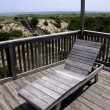 Outer Banks Deck Chair — Stock Photo
