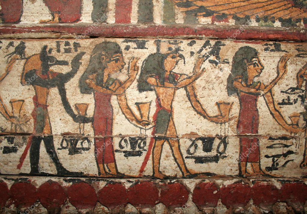 A beautiful ancient Egyptian painting.  — Stock Photo #6538787