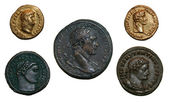 Roman Empire Coins — Stock Photo