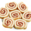 Strawberry Sponge Roll — Stock Photo