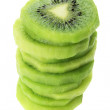 Stack of Kiwi Fruit Slices - Stock Photo