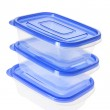 Stack of Plastic Containers — Stock Photo