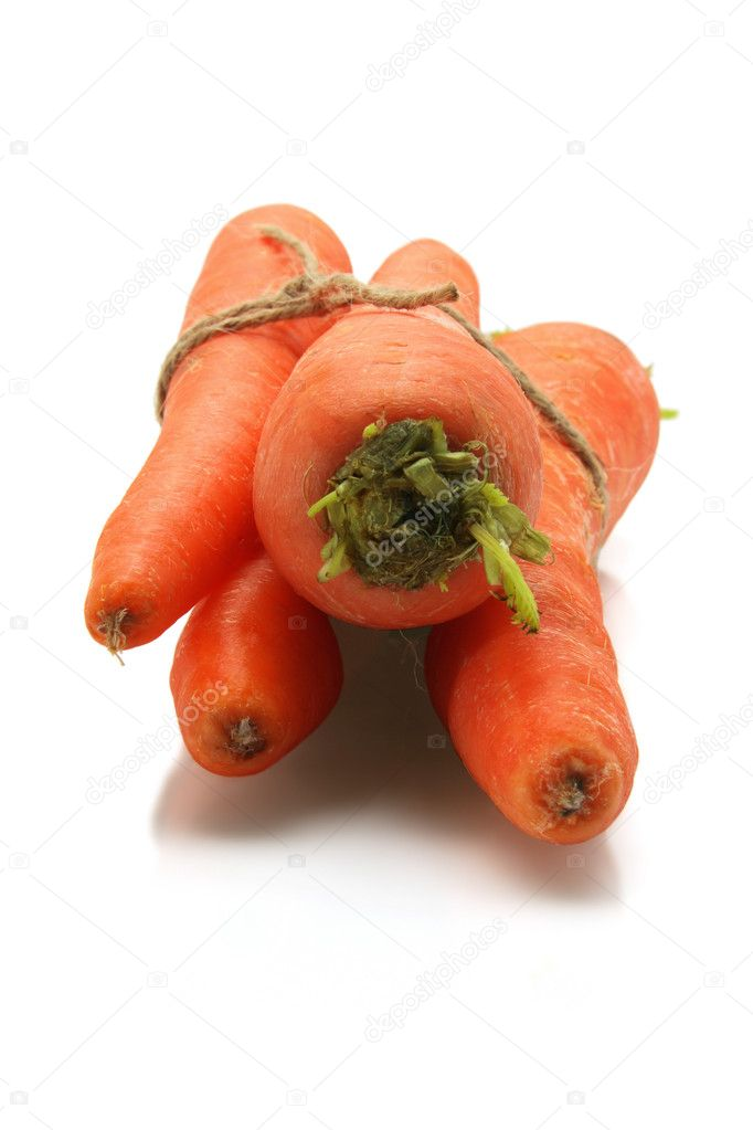 Carrots on White Background  Stock Photo #5754519