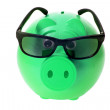 Royalty-Free Stock Photo: Piggybank with Sunglasses