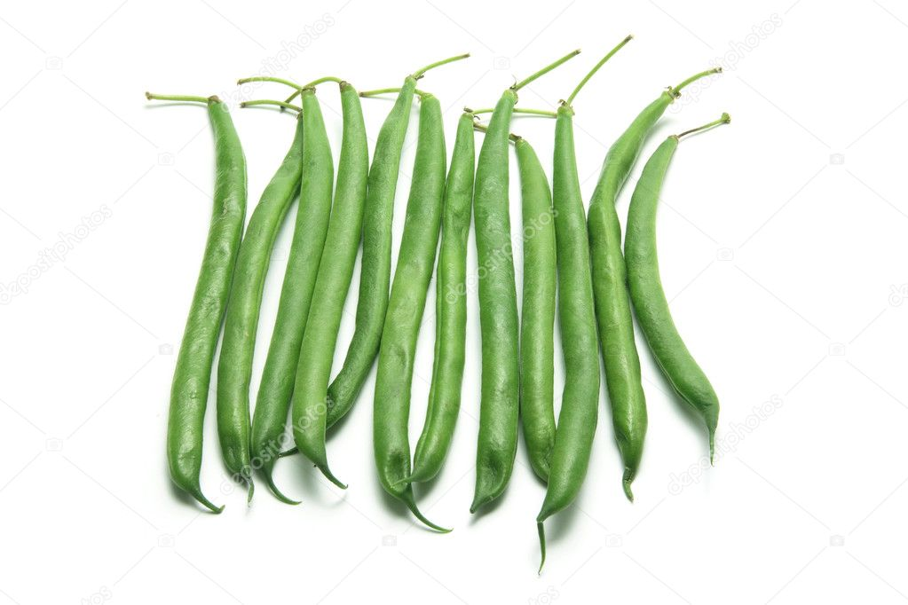 French Beans on White Background — Stock Photo #5777844
