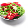Plate of Capsicums — Stockfoto