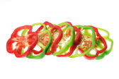 Slices of Capsicums — Stock Photo