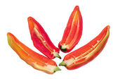 Slices of Banana Pepper Chillies — Stock Photo