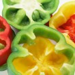 Capsicum Slices — Stock Photo