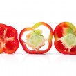 Red Capsicum Slices — Stockfoto