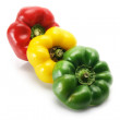 Row of Capsicums — Stockfoto