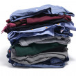 Pile of Folded Clothes — Stock Photo #5838401