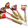 Row of Darts — Stock Photo