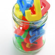 Stock Photo: Alphabets in Jar