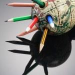 Antique Globe Pen Holder — Stock Photo #5855646