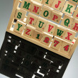 Alphabet Rack — Foto Stock