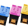Foto de Stock  : Color Ink Cartridges