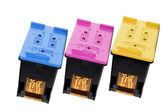 Color Ink Cartridges — Stock Photo