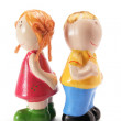 Male and Female Figurines — 图库照片