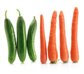 Carrots and Lebanese Cucumbers — Stock Photo