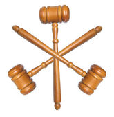 Wooden Gavels — Stock Photo